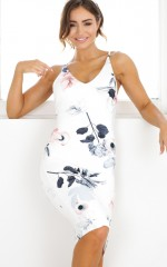 Hold On Tight dress in white floral