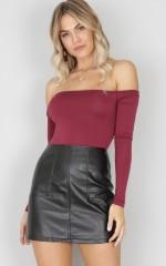 How I Feel skirt in black leatherette