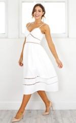 Girls of Summer dress in white
