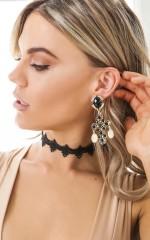 You Cross My Mind earrings in gold