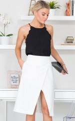 Overlap You Skirt in White