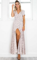 Feeling So Close maxi dress in pink floral