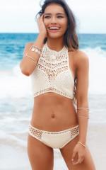 Tidal Wars bikini in natural crochet