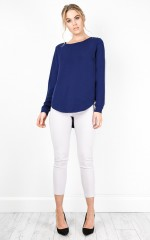 Present Tense top in navy