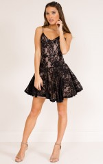 Your Stories dress in black lace
