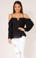 Unsteady top in black