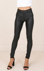 Backtrack jeggings in black