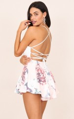In Bloom playsuit in pink floral