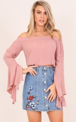 Silent Witness top in blush