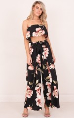 Its You two piece set in black floral