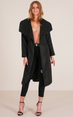 Great Expectations coat in black