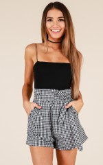 Cabin Fever shorts in black gingham