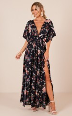 Vacay Ready Maxi dress in navy vintage floral
