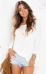 Slouch top in white