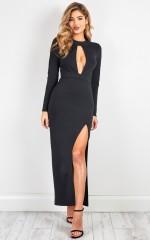 Bright Star maxi dress in black