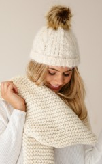 Brave The Cold beanie in cream