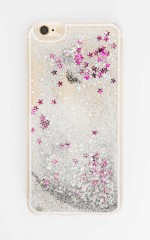 Dizzy Lizzy iphone 6 cover in silver glitter