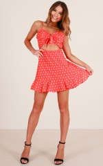 Down The Rabbit Hole dress in red print