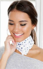 Girl Gang Scarf in white