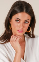 Hidden Talent earrings in gold