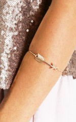 Hit You Where It Hurts bracelet in gold