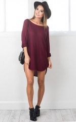 Lazy Girl top in wine