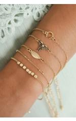 Link it Up 5pc bracelet set in gold