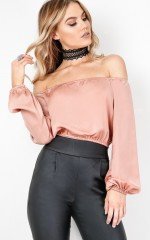 Mad About You crop top in mocha