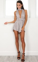 Night Minds Playsuit in beige