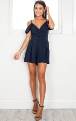 Novella Playsuit in navy