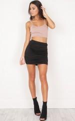 Picture Frames mini skirt in black