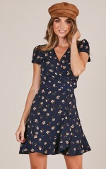 Full Speed Ahead dress in navy floral