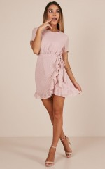 Perfect Solution dress in blush
