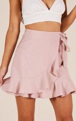 Start The Party skirt in blush