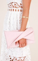 Start Something clutch bag in nude