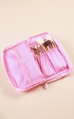 Travel Makeup Bag in pink