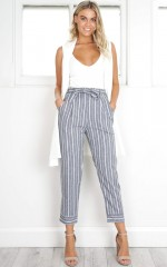 I Belong With You pants in grey stripe