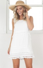 Far From Away Dress in white