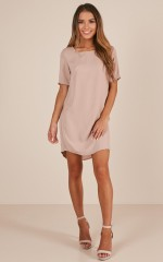 Way It Is Shift dress in mocha