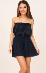 To Be Loved playsuit in navy