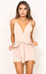 Together Again playsuit in beige