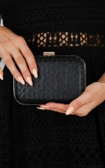 Tonight Is The Night clutch in black
