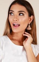 Too Much Fun earrings in gold