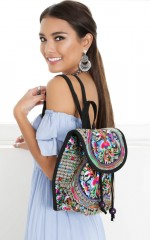 Treble and Bass backpack in multi embroidery