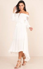 Turn Up Your Light maxi dress in white