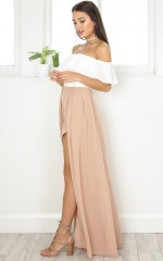 Skinny Love maxi playsuit in beige