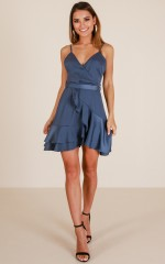 Star Mile dress in midnight sateen