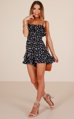 Lonely Nights playsuit in navy floral