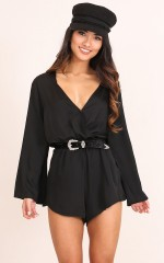 Where We Go playsuit in black