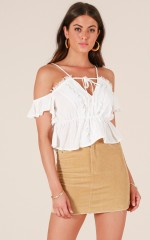 Wild Away top in white